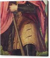 Saint Alexander A Panel From The Altarpiece The Nativity With Saints Canvas Print