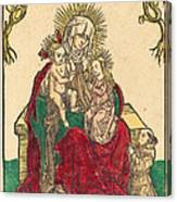 Saint Anne, The Madonna And Child, And A Franciscan Monk Canvas Print