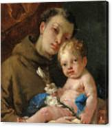Saint Anthony Of Padua And The Infant Christ Canvas Print