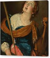 Saint Cecilia Canvas Print