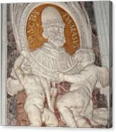 Saint Damasus Tondo In Saint Peter's Basilica Canvas Print
