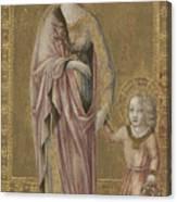 Saint Dorothy And The Infant Christ Canvas Print