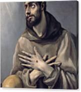 Saint Francis In Ecstasy Canvas Print