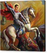 Saint George And The Dragon Canvas Print