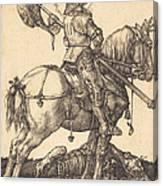 Saint George On Horseback Canvas Print