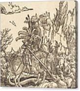 Saint George Slaying The Dragon Canvas Print