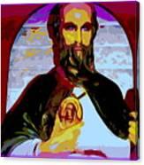 Saint Holding Medallion Canvas Print