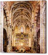 Saint Isidore - Romanesque Temple Altar And Vault - Vintage Version Canvas Print