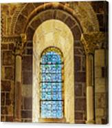 Saint Isidore - Romanesque Window With Stained Glass Canvas Print