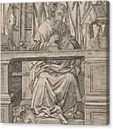 Saint Jerome In His Study Canvas Print