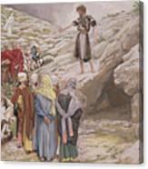 Saint John The Baptist And The Pharisees Canvas Print