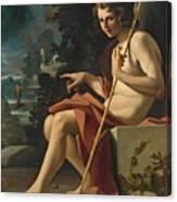 Saint John The Baptist In A Landscape Canvas Print