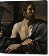 Saint John The Baptist In Prison Visited By Salome Canvas Print