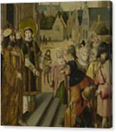 Saint Lawrence Before The Prefect Canvas Print