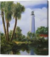 Saint Marks Lighthouse Florida Canvas Print
