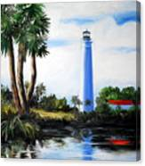 Saint Marks River Light House Canvas Print