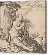 Saint Mary Magdalene In The Desert Canvas Print