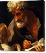 Saint Matthew 1621 Canvas Print