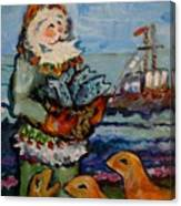 Saint Nicholas With The Harbor Seals Canvas Print