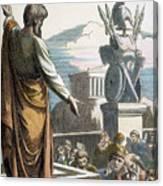 Saint Paul At Athens Canvas Print