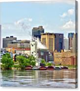 Saint Paul From The Mississippi Canvas Print