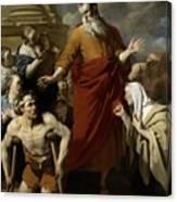 Saint Paul Healing The Cripple At Lystra Canvas Print