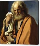 Saint Peter Penitent Canvas Print
