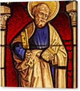 Saint Peter  Stained Glass Canvas Print