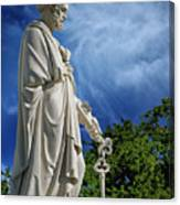 Saint Peter With Keys To Heaven Canvas Print