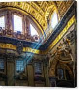 Saint Peter's Beams Of Light Canvas Print