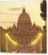 Saint Peters Cathedral In The Vatican Canvas Print