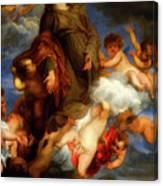 Saint Rosalie Interceding For The Plague Stricken Of Palermo     Canvas Print