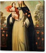 Saint Rose Of Lima With Child Jesus Canvas Print