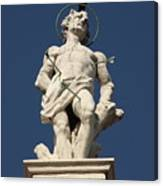 Saint Sebastian On Church In Venice Canvas Print