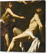 Saint Sebastian Succoured By The Angels Canvas Print