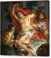 Saint Sebastian Tended By Saint Irene Canvas Print