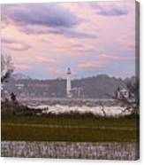 Saint Simon Island Lighthouse Canvas Print