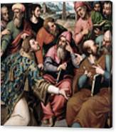 Saint Stephen In The Synagogue Canvas Print