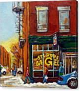Saint Viareur And Park Avenue Bagel Shop Canvas Print