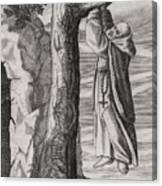 Saint Victorinus Does Penance Canvas Print