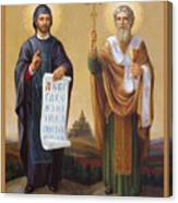 Saints Cyril And Methodius - Missionaries To The Slavs Canvas Print