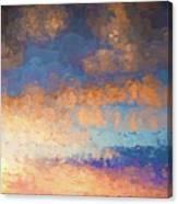 Salamonie Sunset Abstract Canvas Print