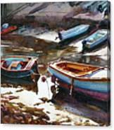 Salcombe Boatyard Canvas Print