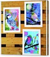 *sale* 3 11 X 14 In. Bird Prints With Canvas Print