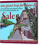 Sale Poster By Eric Jackson, Statement Artwork Canvas Print