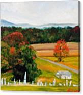 Salem Cemetery In October Canvas Print