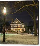 Salem Commons Winter Snow At Christmas Salem Ma Canvas Print