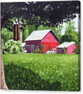 Salem County Farm, Framed Canvas Print