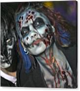 Salem Halloween Makeup Canvas Print