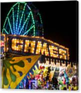 Salem Ma Halloween Carnival Games Booth Canvas Print